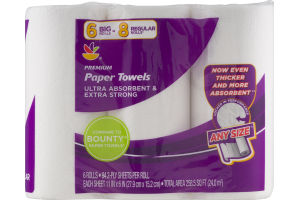 Ahold Premium Paper Towels Big Rolls - 6 CT