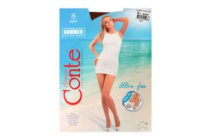 Колготи жіночі Conte Summer multifibra 8den 4-L bronz