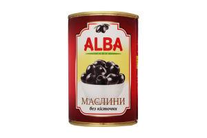 Маслины без косточки Alba Food ж/б 425мл