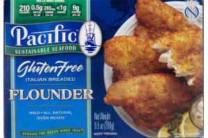 Pacific Sustainable Seafood Gluten Free Italian Breaded Flounder