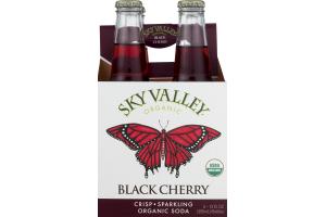 Sky Valley Organic Soda Black Cherry - 4 CT