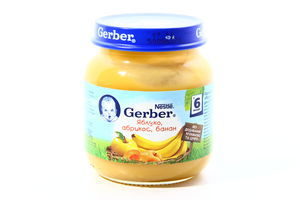Пюре яблоко-абрикос-банан Gerber 130г