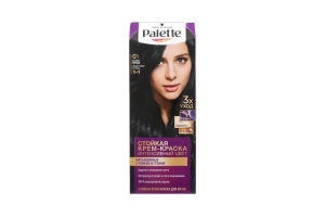 Фарба для волосся синьо-чорний С1 Palette