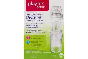 Playtex Baby Nurser Drop-Ins Liners - 100 CT