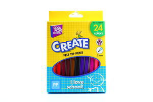 Фломастери CoolForSchool Create 24шт 2мм 15217