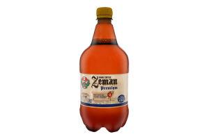 Пиво 1л 4.4% світле фільтроване непастеризоване Premium Zeman п/пл