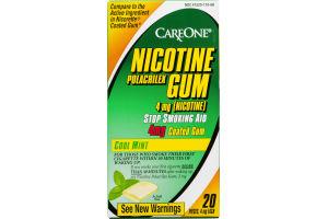 CareOne Nicotine Polacrilex Gum 4 mg Cool Mint - 20 CT
