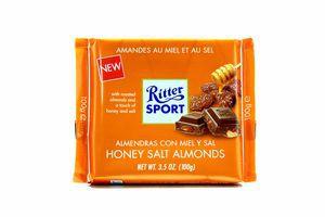 Шоколад Ritter Sport молочний мигдаль в медовій глаз100г x11