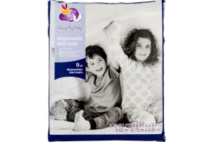Always My Baby Disposable Bed Mats - 9 CT