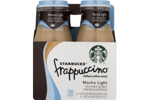 Starbucks Frappuccino Chilled Coffee Drink Mocha Light - 4 CT