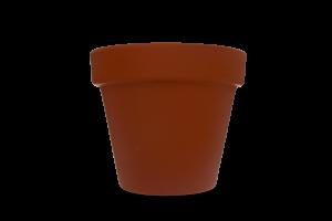 Горщик гладкий 15,5*13,5*2,0 кераміка, 1шт