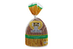 Хліб подовий половинка в нарізці Український новий Рома м/у 0.375кг