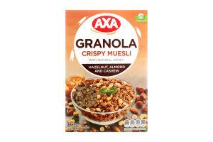 Мюслі хрусткі медові з горіхами Granola Axa к/у 375г