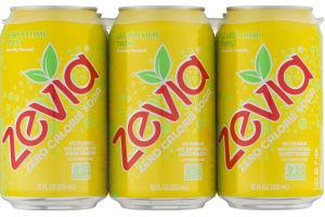Zevia Zero Calorie Soda Lemon Lime Twist - 6 PK