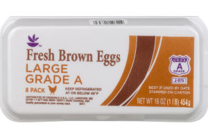 Ahold Fresh Large Brown Eggs Grade A - 8 CT