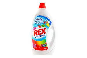 Средство для стирки жидкое концентрированное Color Max Power Rex 3л