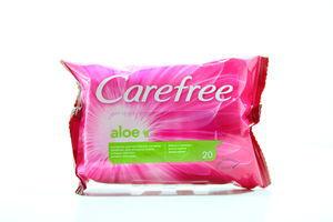 Салфетки влажные для интимной гигиены aloe Carefree 20шт