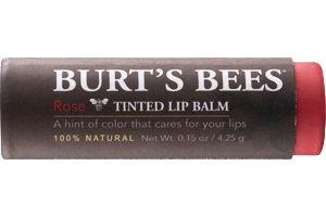 Burt's Bees Tinted Lip Balm Rose