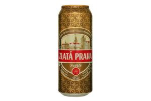 Пиво 5% 0,5л светлое Zlata Praha ж/б