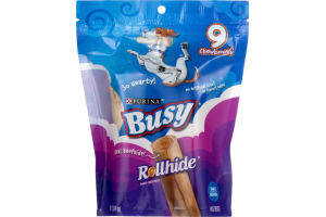 Purina Busy Rollhide Dog Treats Small/Medium - 9 CT