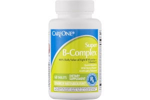 CareOne Super B-Complex Tablets - 60 CT