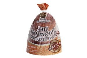 Хліб нарізний пшенично-житній заварний Ароматний Короваєво м/у 400г