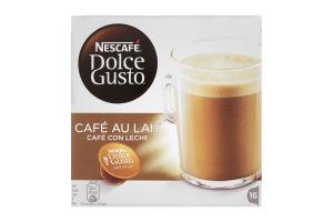Кава натуральна смажена мелена Cafe-Au-Laite Nescafe Dolce Gusto 16*10г