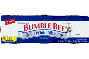 Bumble Bee Solid White Albacore Premium Tuna In Water - 3 PK