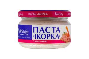 Паста с икрой атлантических рыб с креветкой Икорка Veladis с/б 160г