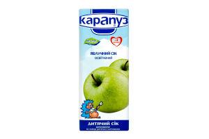 Сок Карапуз яблочный неосветл 200мл