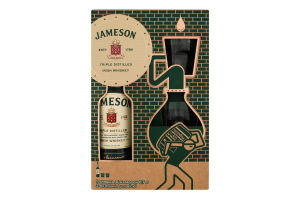 Набір Віскі Jameson 40% 0.7л + 2 склянки 1шт
