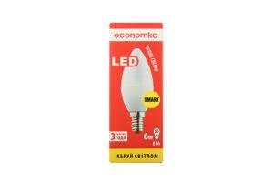 Лампа світлодіодна Economka LED CN 6W E14 2800K 1шт