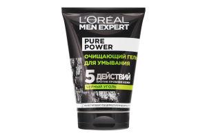Гель очищуючий для вмивання Чорне вугілля Pure Power Men Expert L'Oreal 100мл
