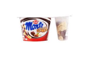 Десерт 13.9% молочний з шоколадом і лісовими горіхами+пластівці Choco Flakes Monte Zott 125г