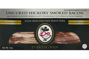 D'Artagnan Uncured Bacon Hickory Smoked