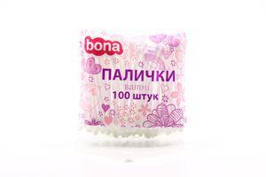 Палочки ватные Bona 100шт