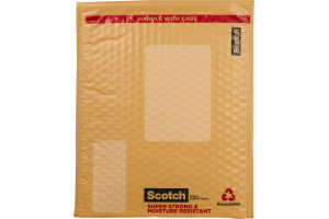 Scotch Plastic Bubble Mailer 8.5 x 11.25
