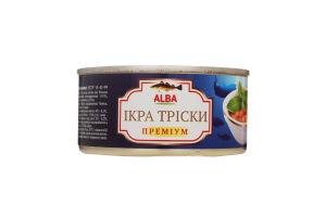 Ікра тріски Преміум Alba Food ж/б 185г