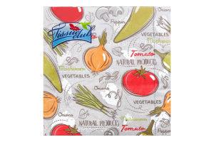 Серветки з малюнком фрукти/овочі 33х33 20 штук Tissue club