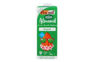 Молоко органическое из миндаля с сиропом агавы Ecomil т/п 1л