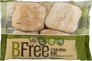 BFree Soft White Rolls - 4 CT