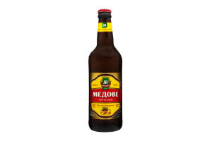 Пиво світле Микулин Микулинецьке Медове фірмова пляшка 0,5л