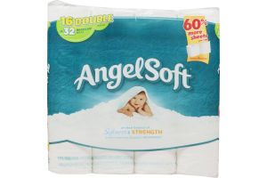 Angel Soft Bathroom Tissue Double Rolls - 16 CT