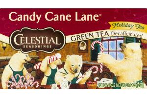 Celestial Seasonings Decaffeinated Green Tea Holiday Tea Bags Candy Cane Lane - 20 CT