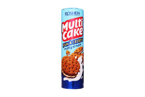 Печиво Рошен Multicake fun & crispy з молочно-кремовою начинкою 135г