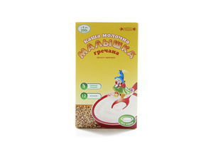 Каша молочная для детей от 4мес Гречневая Малышка к/у 250г