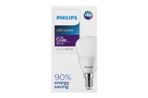 Лампа светодиодная LED 6W E14 500lm Lustre Philips 1шт