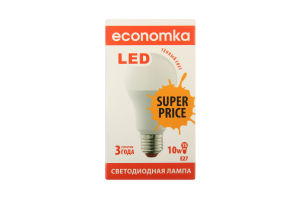 Лампа светодиодная Economka LED A60 10W E27 SP 2800K 1шт