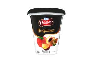 Йогурт Десертний Спокуса 2,5% манго-персик Дольче стаканчик 300г