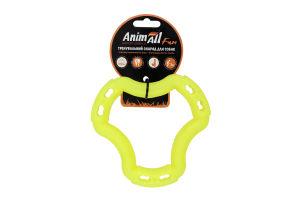 Снаряд тренувальний для собак 15см жовте №88211 Кільце Fun AnimAll 1шт